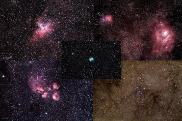 collage of astro photos from Rhodes