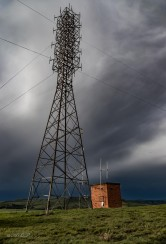 tower and clouds